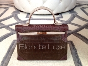 35cm alligator, lizard and ostrich Hermes kelly Grand Marriage.